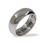 With This Ring I Thee Wed Engravable Wedding Ring
