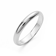Classic 3mm Sterling Silver Wedding Band