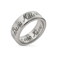 1,000 Kisses Stainless Steel Poesy Ring