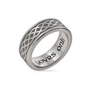 Celtic Weave Yovrs Onli Stainless Steel Wedding Band