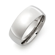 9mm Stainless Steel Wedding Band