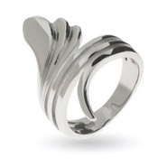 Danielles Sterling Silver Retro Wrap Ring