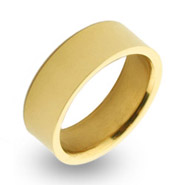 18K Gold Plated 7mm Stainless Steel Band