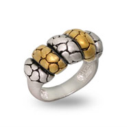 Designer Inspired Two Tone Matte Finish Bali Ring
