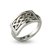 Sterling Silver Celtic Knot Bar Ring