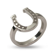 Stainless Steel Lucky Horseshoe Ring