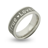 True Love Waits Stainless Steel Engravable Purity Ring