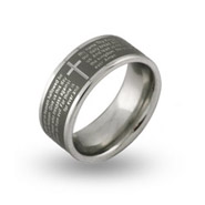 Lords Prayer Engravable Message Ring