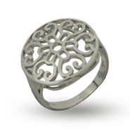 Sterling Silver Round Filigree Ring