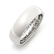Engravable Stainless Steel Bereavement Prayer Ring