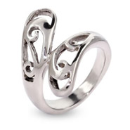 Sterling Silver Filigree Spoon Ring
