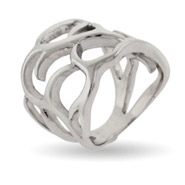 Woven Branches Sterling Silver Ring