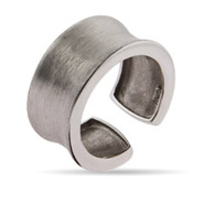 Sterling Silver Brushed Finish Thumb Ring