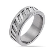Men's Engravable Stainless Steel Intrepid Ring