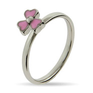 Stackable Reflections Pink Dogwood Enamel Stackable Ring