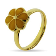 Stackable Reflections Gold Vermeil Yellow Magnolia Stackable Ring
