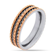 Engravable Rose Gold Ribbed Message Band