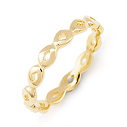 Stackable Reflections Gold Vermeil Thin Stackable Ring