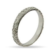 Stackable Reflections Engraved Zig Zag Silver Stackable Band