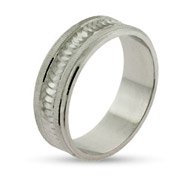 Eternity by Eve Modern Style Sterling Silver Wedding Ring