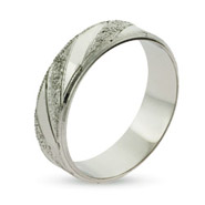 Eternity By Eve Men's Gleaming Sterling Silver Wedding Ring