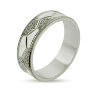 Eternity By Eve Sterling Silver Octet Wedding Band