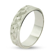 Eternity by Eve Diamond Cut Sterling Silver Wedding Band