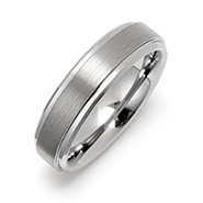 6mm Raised Center Engravable Tungsten Carbide Ring