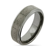 Celtic Knot Engravable Tungsten Carbide Ring