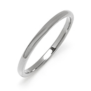 2 mm Thin Tungsten Carbide Wedding Band