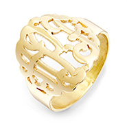 Gold Vermeil Custom Monogram Ring
