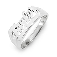Sterling Silver Name Ring