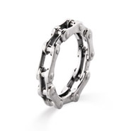 Men's Sterling Silver Bike Chain Ring