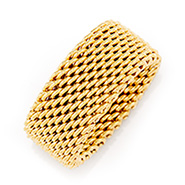 Tiffany Inspired Gold Mesh Ring