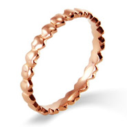 Stackable Reflections Rose Gold Band of Hearts Stackable Band