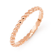 Stackable Reflections Rose Gold Beaded Stackable Band