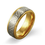 Men's Two-Tone Infinity Design Stainless Steel Ring