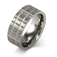 Men's Iron Grid Stainless Steel Comfort Fit Band