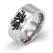 Engravable Tree of Life Message Band