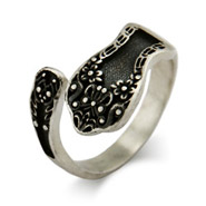 Antique Style Sterling Silver Spoon Ring
