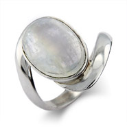 Bella's Twilight Inspired Sterling Silver Moonstone Ring