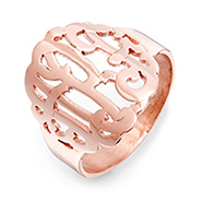 Rose Gold Vermeil Custom Monogram Ring