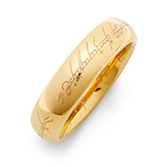 The One Ring Lord of the Rings Inspired Gold Tungsten Ring