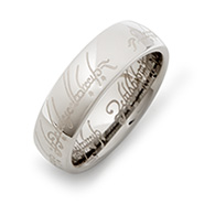 The One Ring Lord of the Rings Inspired Tungsten Ring
