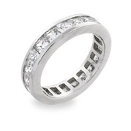 Sterling Silver Eternity Ring in White Cubic Zirconias