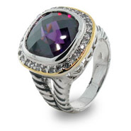 Designer Inspired Amethyst Ice Ring