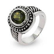 Steven Lagos Inspired Peridot Oval Ring in Sterling Silver