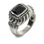 Steven Lagos Inspired Black Onyx Square Ring