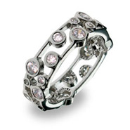 Tiffany Inspired Cubic Zirconia Bubbles Band