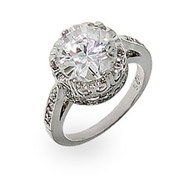 Jessica's Crown Diamond Signity Star Cut CZ Ring
